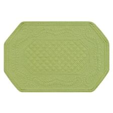 "Set of 4 PCS,13X19"" Quilted Placemats OCTAGONAL, GREEN,812621350G"