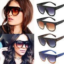Oversized Shadow Sunglasses Flat Top Shield Women's Ladies High Quality Top Hot