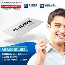 Fotodek Magnetic Stripe Hi-Co Premium Blank PVC Cards • Pack of 50