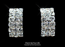 Handcraft 18k Gold plated Sparkling Swarovski Crystals Clip On Earrings RRP:$49