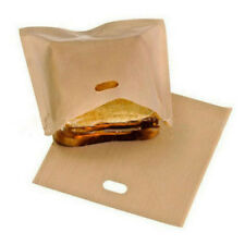 2 Pc Reusable Toaster Bags Grilled Sandwiches Cooking Non Stick Microwave Tools