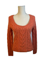 Coral orange wool angora pull over sweater size M by Limited scoop neck everday