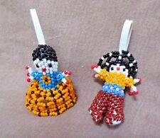 Native Zuni Small Beaded Guacho and Maiden by Dora Witka - M0055