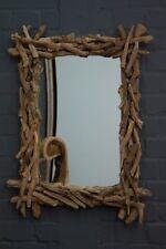 Wandspiegel Groß Holz Teak Äste 120x90cm Spiegel Rahmen Designer Thailand Neu