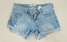 Hollister Womens Size 1 W25 Denim Shorts Cut Offs Mini Micro Booty