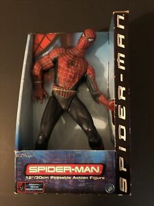 """2001 Toy Biz Spider-Man 12"""" Poseable Action Figure Official Movie Merch NEW"""
