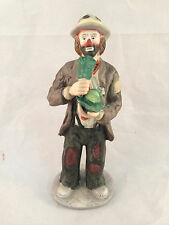 "Emmett Kelly Jr. Collection from Flambro Hobo Clown Eating Cabbage 8-1/2"" Tall"