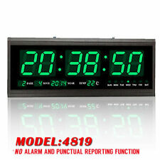 Jumbo Large Digital LED Wall Modern Clock Timer with Calendar Temperature Green