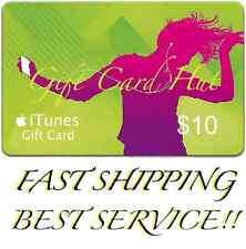 $10 US iTUNES CARD gift voucher certificate Apple USA USD iTune 100% Super Fast