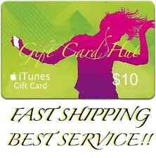 $10 US iTUNES CARD gift voucher certificate Apple USA USD iTune 100% Super Fast