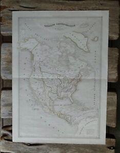 Antique Map Amerique Septentrionale Duvotenay  Paris ca. 1840 Republic of Texas