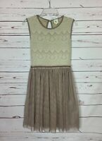 Weston Wear Anthropologie Women's S Small Lace Sleeveless Spring Summer Dress