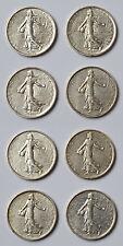 Sammlung Lot 8x Silbermünze Frankreich 5 Francs Semeuse 1960-1962 Silbermünzen