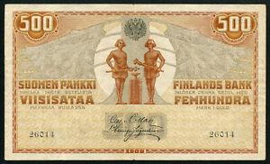 FINLAND 500 MARKKAA 1909, RARE