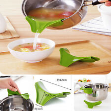 New Fashion Green Silicone Soup Funnel Kitchen Gadget Tools Water Deflector Tool