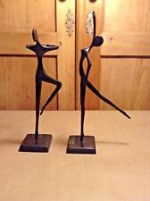 Design Bodrul Khalique bronze ballet dancer sculpture set of two