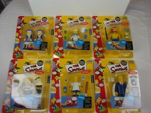 The Simpsons action figure complete set series 8 MIB Playmates Fresh from case!