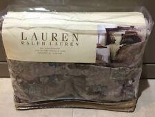 NEW Ralph Lauren California King bedskirt Margeaux Medallion plum