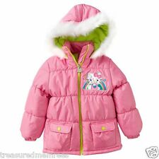 Hello Kitty Puffer Coat With Attached Hood ~ Size 2T ~ New With Tags MSRP $75.00