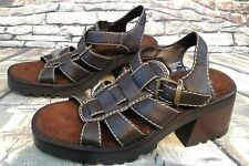 Z Line By Zodiac Women's Size 8M Brown Chunky Grommet Platform Sandals