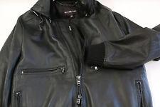 Michael Kors Sheep Skin Hooded Leather Jacket Size M   RETAIL $895
