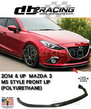 MS-Style Front Lip (Polyurethane) Fits 14-16 Mazda 3 4/5DR 2014-2016