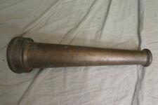 """Vintage Brass Allen Co. FIRE HOSE NOZZLE 12"""" x 3.25""""/1.5"""", 3 lbs 13 oz."""