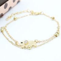 Fashion Women Charm Rhinestone Gold Elephant Chain Bracelet Jewelry New Gift
