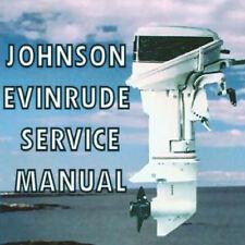 JOHNSON EVINRUDE OUTBOARD MOTOR BOAT 1971 1972 1973 1974 TO 1989  SERVICE MANUAL