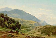 François-Xavier Roffiaen el meyringen Valle Vista desde la ruta du Grimsel Art
