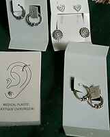 Sterling Silver Earrings BRAND NEW,  Lot of Five Pairs. Various Designs, .925