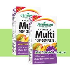 2 x Jamieson 100% Complete Chewable Multivitamin for Adults, 60 tablets