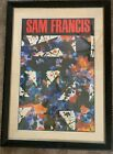 Sam Francis, Untitled - Large, Colorful, Abstract, Framed and Matted Poster