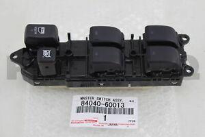 8404060013 Genuine Toyota MASTER SWITCH ASSY, POWER WINDOW REGULATOR 84040-60013