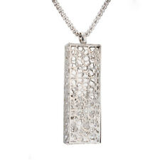 Fashion Gold Filled Cuboid Filigree lace cube Long Pendant Womens Necklace lot