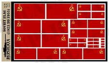Diorama Accessory - Soviet Flag (1923 - 1955) - 1/72, 1/48, 1/32, 1/35 Scales