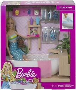 Barbie Bathtime Fizzy Bath Doll Playset Ages 3+