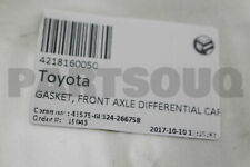 4218160050 Genuine Toyota GASKET, FRONT AXLE DIFFERENTIAL CARRIER 42181-60050