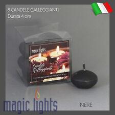 CANDELE GALLEGGIANTI MAGIC LIGHTS CANDELA GALLEGGIANTE 8PZ NERE AUTOSPEGNIMENTO