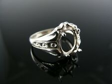 5462 RING SETTING STERLING SILVER, SIZE 7.5, 9X7 MM OVAL STONE