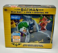 LEGO Batman Movie (Blu-ray/DVD Gift Set, 2017) Bluray/DVD/Digital plus Lunchbox!