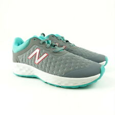 New Balance Kids Youth Shoes Size 1 Running Lace Up Grey Turquoise KJKAYSTY