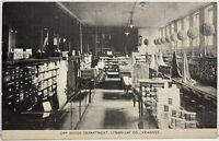 ILLINOIS Dry Goods Department Lyman-Lay Co. KEWANEE IL 1900s Photo Postcard