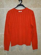 pull en laine et cachemire  torsadée CELINE orange taille M  38 / 40