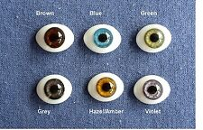 Doll Eyes: #FG High Quality Glass Flat  Eyes 24mm: CHOICE of color