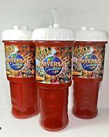(3) Universal Studios Orlando 2011 Red Collectible Souvenir Refills Cups Set