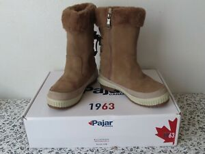 Pajar Womens Kady Taupe Suede Winter Boots Shoes 7-7.5 usa 38 Euro  M