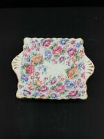Staffordshire Vintage Springtime Trinket Dish Floral Fine Bone China