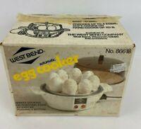 Vintage West Bend EGG COOKER Electric Automatic Egg Cooker POACH Model 86618 NOS