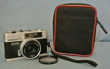 COLLECTIBLE COMPACT KONICA C35 AUTOMATIC RANGEFINDER WITH CASE - FULLY WORKING.
